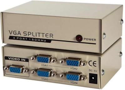 SuperShopperIndia 4 Port VGA Splitter Media Streaming Device