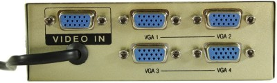 Smart Power 4 Port VGA Splitter - 150 Mhz Media Streaming Device