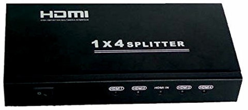 Wiretech 1x4 HDMI SPlitter Media Streaming Device(Black)