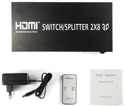 Smartpower 2 inputs,8ooutputs HDMI Splitter/Switch Media Streaming Device