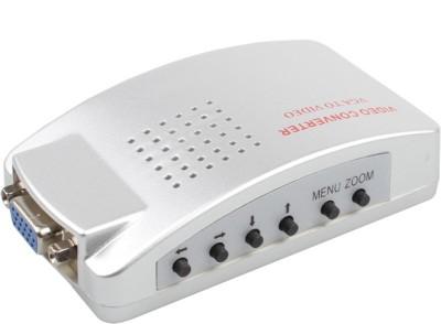 Rapter Video Converter VGA to Video High Resolution Video VGA Conversion Box Media Streaming Device(White)