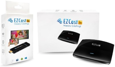 Ezcast Pro Wireless Presentation Device with LAN Media Streaming Device(Black)
