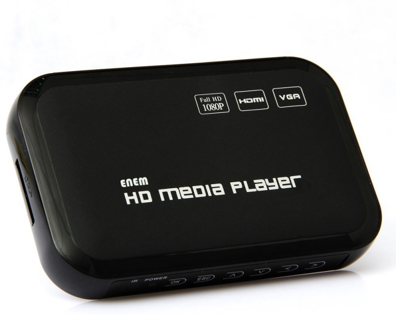 Enem 1080p Full HD Ultra Portable Digital Media Player Media Streaming Device(Black)