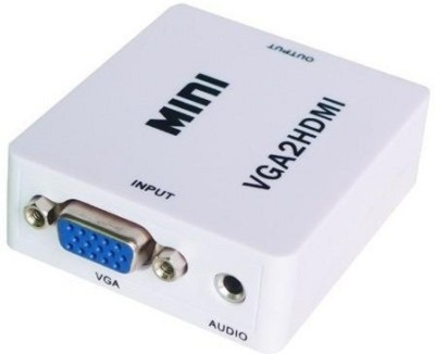 KARP Mini VGA Audio to HDMI 1080P Converter Adapter-White Media Streaming Device