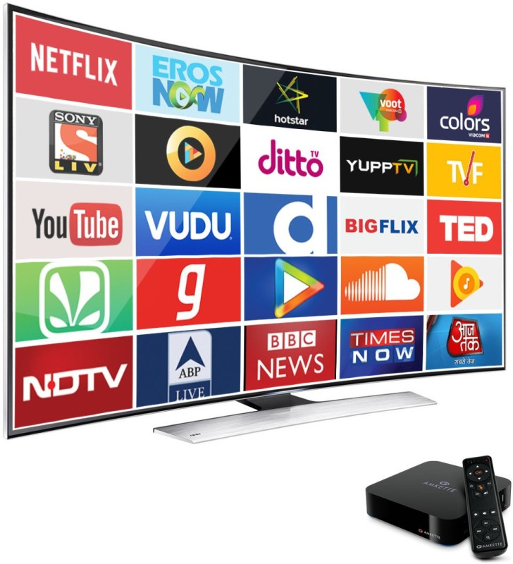 Amkette EvoTV2 4K Smart Android Media Streaming Device(Black)