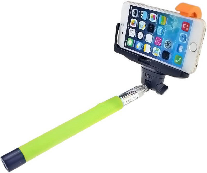 Tuzech in-built Stick Selfie Stick(Green)