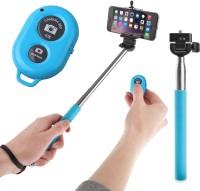 Voltaa Blue Bluetooth Remote Selfie Stick(Multicolor)