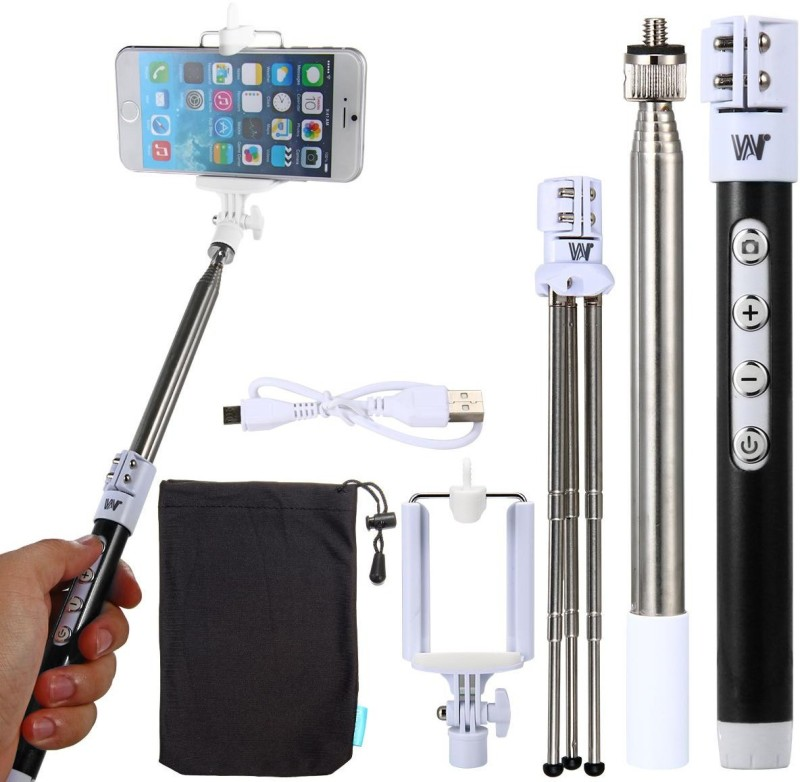 Tuzech Extendable Selfie Stick Selfie Stick(Black)