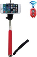 My Style Bluetooth Selfie Stick(Red, Remote Included)