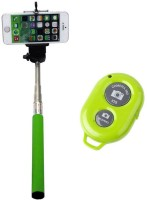 KONARRK Bluetooth Selfie Stick(Green, Remote Included)
