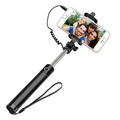 99 Gems Cable Selfie Stick(Black)