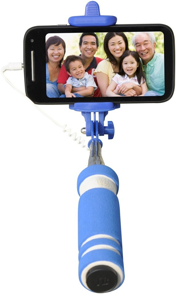 CheckSums Cable Selfie Stick(Blue)