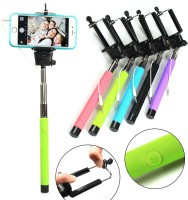 Wizo Cable Selfie Stick(Red, Black, White, Blue, Purple, Pink, Yellow, Orange)