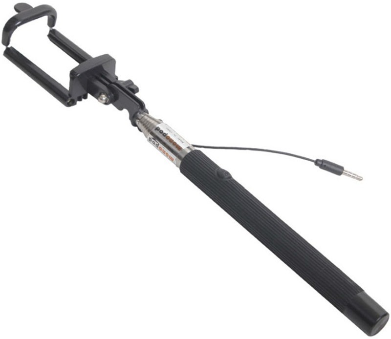 White Panther Cable Selfie Stick(Multicolor)