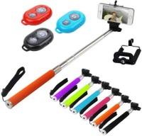 Trioflextech BT001 Selfie Stick(Multicolor)