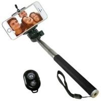 Peezer Selfie Stick With Bluetooth Remote Selfie Stick(Black)