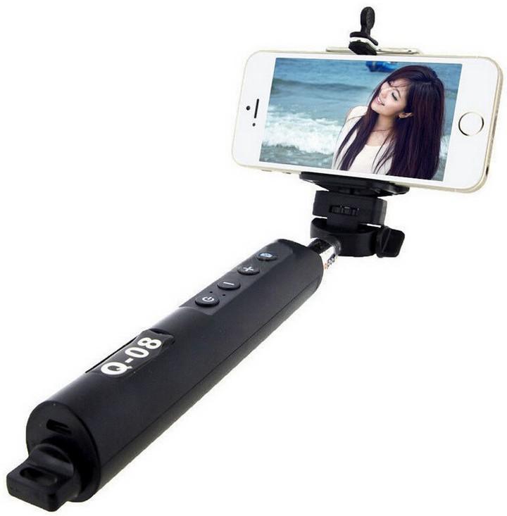 Microware Q-08 Selfie Stick(Black)