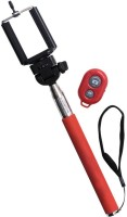 Voltaa Bluetooth Selfie Stick(Red, Remote Included)