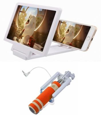 Bigkik 3d Phone Screen+ Mini Selfie Stick Combo Set