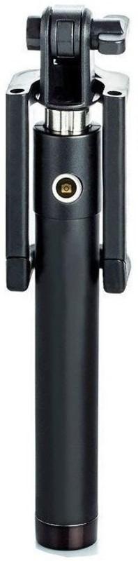 HITZBLUEMINT Aircraft Grade Aluminium Selfie Stick(Black)