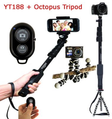 ample wings a30 yunteng selfie stick 188 octopus tripod bluetooth remote for. Black Bedroom Furniture Sets. Home Design Ideas