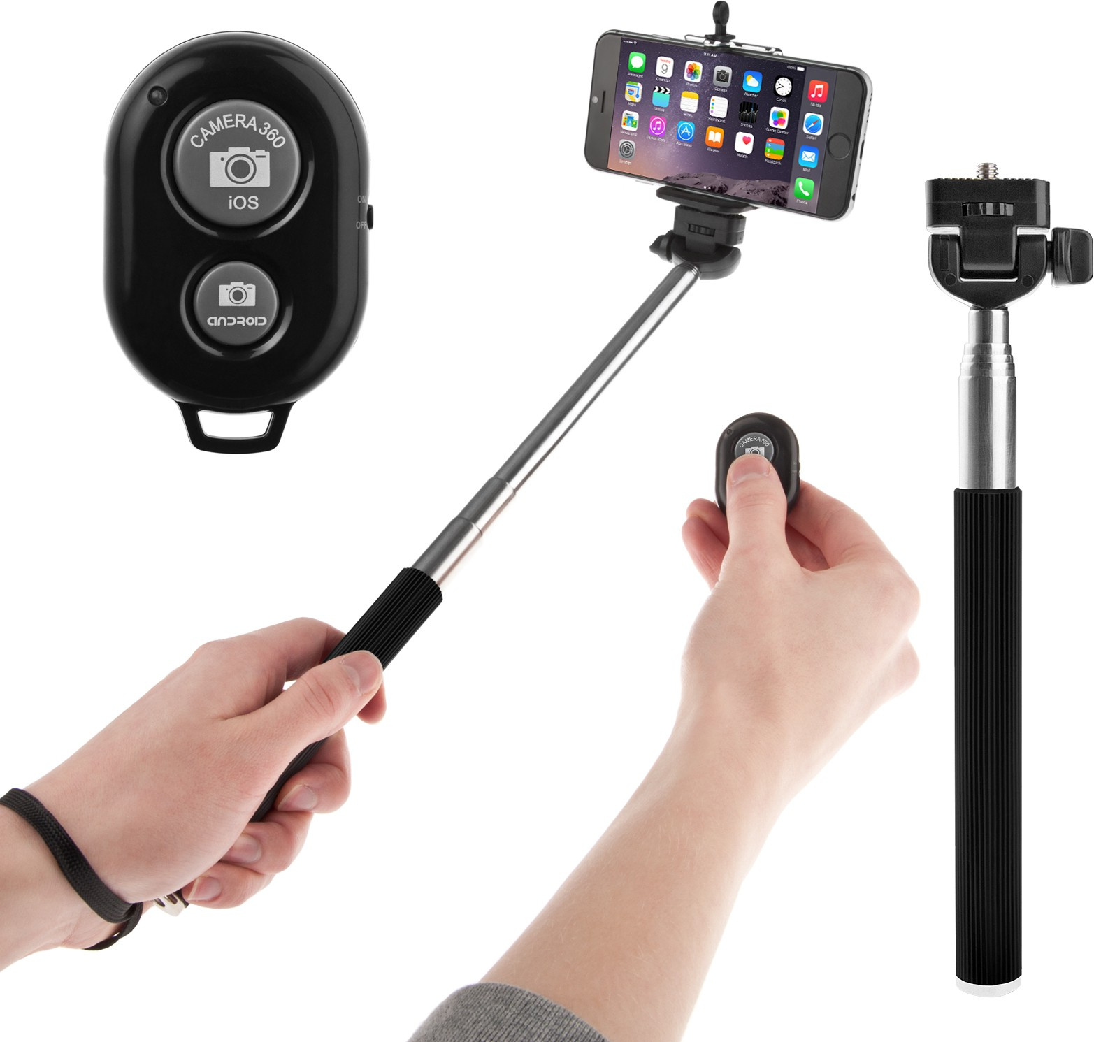 Flipkart - Selfie Sticks With Bluetooth Remote Just at Rs.299