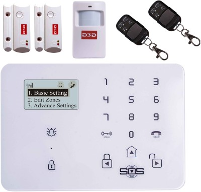 D3D Model D9 With 2 Door+ 1 PIR Sensor + 2 Remote Touch Screen Smart phone iOS/ Android Mobile apps Wireless Sensor Security System