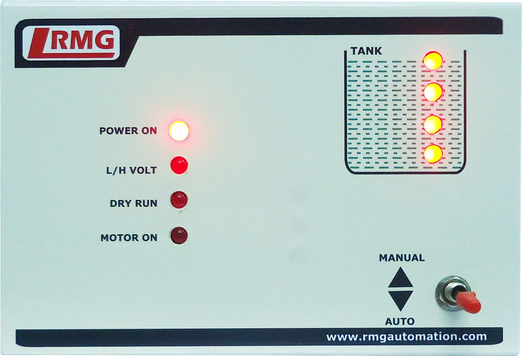 View Rmg Fully Automatic Water Level Controller with Indicator for Motor Pump Operated by Starter upto 1.5 HP - Tank only Wired Sensor Security System Home Appliances Price Online(Rmg)