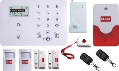 D3D D9 With 2PIR MOTION SENSOR_2DOOR SENSOR_1VIBRATION SENSOR_1SoS PANIC BUTTON Wireless Sensor Security System