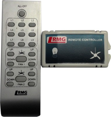 RMG 2 Light And 2 Fan Remote Controller With 10 Speed Regulator Wired Sensor Security System