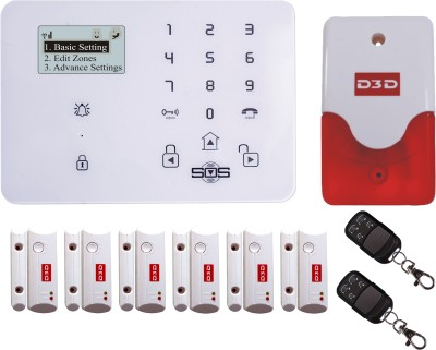 D3D Model D9 with 6 Door+ 2 Remote+Siren Touch Screen Smart phone iOS/ Android Mobile apps Wireless Sensor Security System