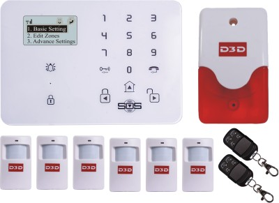 D3D Model D9 with 6 PIR + 2 Remote+Siren Touch Screen Smart phone iOS/ Android Mobile apps Wireless Sensor Security System