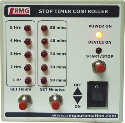 RMG Stop Timer Controller For Motor Pump Operated By Switch/Mcb Upto 1.5 Hp Wired Sensor Security System