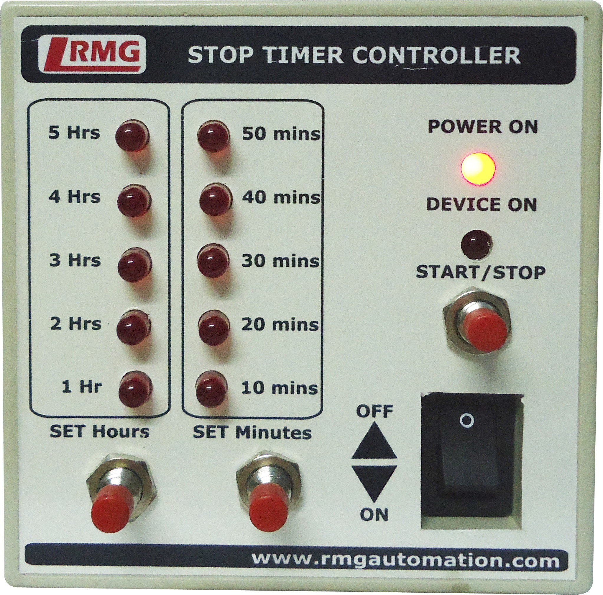 View RMG Stop Timer Controller For Motor Pump Operated By Switch/Mcb Upto 1.5 Hp Wired Sensor Security System Home Appliances Price Online(Rmg)