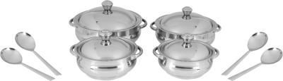 Jensons Smart Serves - Coloured Mirror Bowl Spoon Serving Set(Pack of 8)
