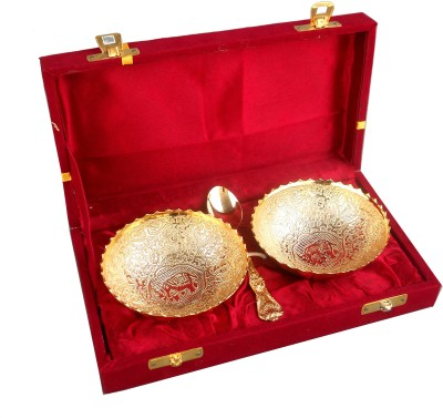 Metallic Kreationz Gifts Set Bowl Spoon Plate Ladle Serving Set
