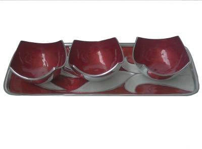 Metallic Kreationz Snack Tray Bowl Tray Serving Set