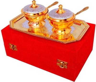 Indian Craft Villa ICV-CP-145 Bowl Spoon Tray Serving Set(Pack of 5) at flipkart