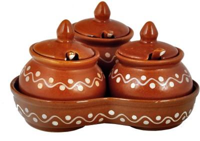 Craftghar Pickle Jar & Chutney Bowl Spoon Plate Ladle Serving Set(Pack of 10)