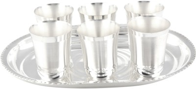 GS Museum Pack of 7 Dinner Set(Silver Plated)