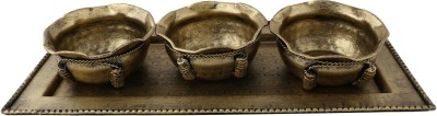 Giftadia Serving Set-077 (Golden) Bowl Tray Serving Set