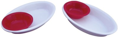 Kaushal Dual Snacks Acrylic Platter Plate Bowl Serving Set