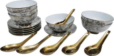 Henry Club Bowl Spoon Plate Ladle Serving Set