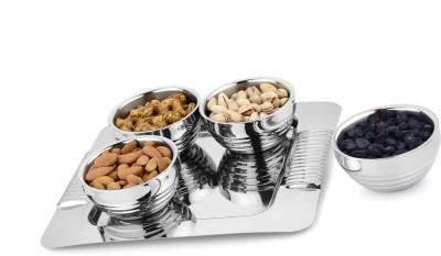 Jattin enterprises Serving,Multipurpose Bowl Tray Serving Set(Pack of 5)