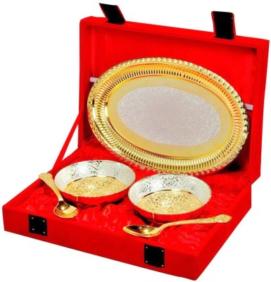 IndianCraftVilla Bowl Spoon Tray Serving Set(Pack of 5) at flipkart