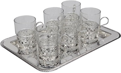 Queen Anne Glass Tray Serving Set