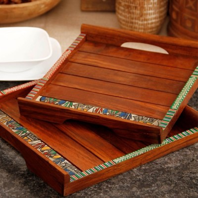 Unravel India Bowl Spoon Tray Serving Set