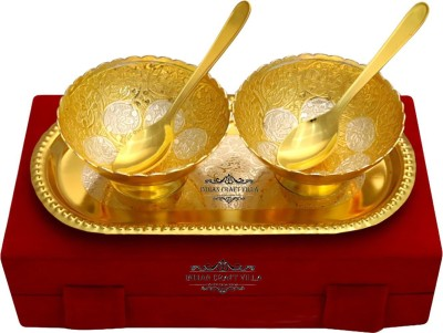 IndianCraftVilla ICV-CP-104 Bowl Spoon Tray Serving Set(Pack of 5) at flipkart