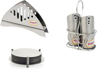 Elegante Bowl Spoon Plate Ladle Serving Set(Pack of 3)