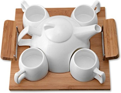 Empreus Tea Kettle with Cup Tray Serving Set